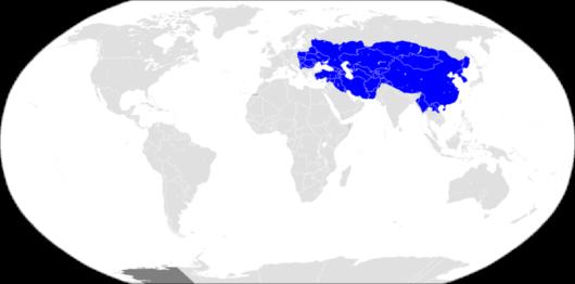モンゴル帝国の版図