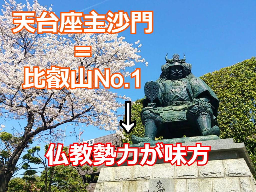 武田信玄は比叡山のトップである天台座主沙門を自称し仏教勢力が味方であることをアピールした