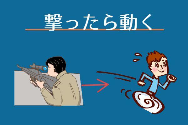 狙撃の基本は位置が特定されないように撃ったら動く