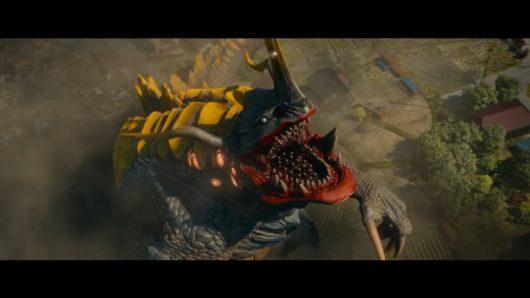 シン・ウルトラマンのネロンガが吠えるカット